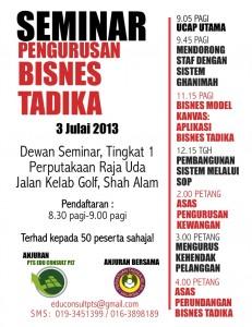 Seminar Pengurusan Bisnes Tadika