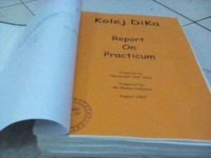 My PRACTICUM report. Thank you to Tadika Diyana, Taman Tun Dr Ismail, KL.